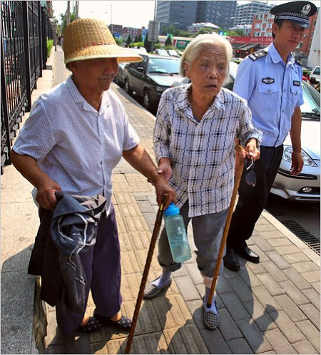 Chinese pensioners arrested