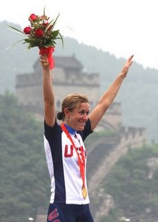 Kristin Armstrong winning the Gold with help from Google Earth
