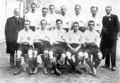 London 1908 English amateur national football team at the Olympics