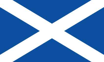 Here's a Scottish saltire, George!