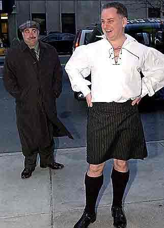 Jack McConnell in his pin-striped kilt