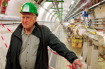 Peter Higgs at CERN