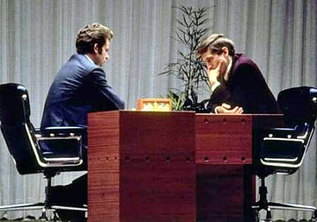 Spassky and Fischer in Iceland, 1972